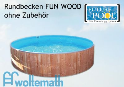 Rundschwimmbecken FUN WOOD 6,00 x 1,20 m